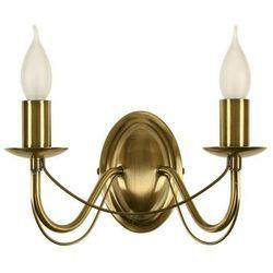 Kinkiet LAMPA ścienna MUZA 22-69156 Candellux klasyczna OPRAWA świecznikowa patyna