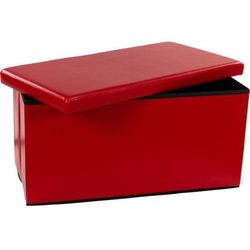 Składana ławka ze schowkiem - ciemnoczerwony