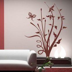 Wally - piękno dekoracji Szablon malarski kwiaty motyl 1287