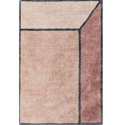 C&m Różowo grafitowy dywan 3d illusion terracotta