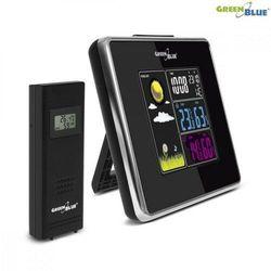 GreenBlue Stacja pogody bezprzewodowa IN/OUT temperatura wilgotność ładowarka USB GB142 black, MULSPGB142