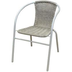 Krzesło ogrodowe FLORALAND z plecionym oparciem popielaty JLC307 z kategorii Krzesła ogrodowe