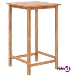 stolik barowy do ogrodu, 65x65x110 cm, lite drewno tekowe marki Vidaxl
