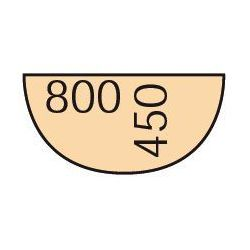 Dostawka do stołu biurowego 80 cm, buk marki B2b partner