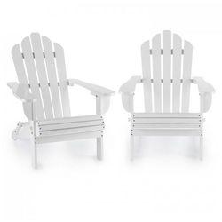 vermont krzesło ogrodowe 2 sztuki styl adirondack drewno świerkowe kolor biały marki Blumfeldt