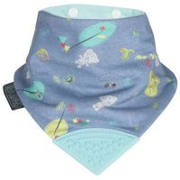 Cheekychompers Śliniaczek z gryzaczkiem tiny tatty teddy denim day neckerchew