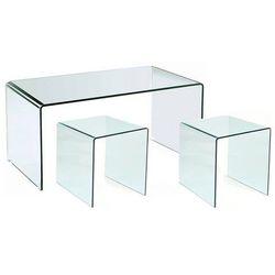 King home Stolik szklany persos a+b - szkło transparentne