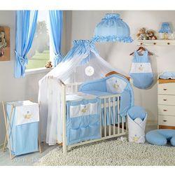 Mamo-tato pościel 14-el miś w hamaku w błękicie do łóżeczka 60x120cm - moskitiera