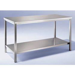 Unbekannt Stół warsztatowy ze stali szlachetnej, 1 pełna półka, szer. 800 mm. ze stali chr