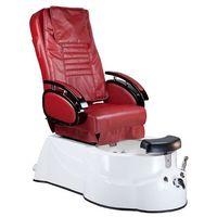 Fotel do pedicure z masażem BR-3820D Bordowy