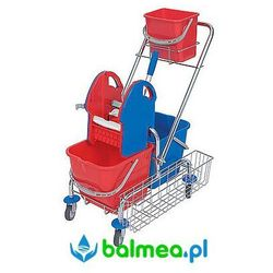 Wózek do sprzątania Splast Roll Mop WCH-0011 trójwiaderkowy z prasą do wyciskania i koszykiem