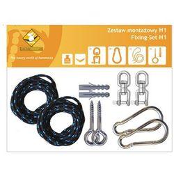 Zestaw montażowy H1 do hamaków, Czarny koala/zh1 - produkt z kategorii- Pozostałe poza domem