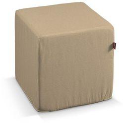 Dekoria Pokrowiec na pufę kostke, beżowy szenil, kostka 40 × 40 × 40 cm, Living
