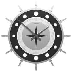 Calleadesign Zegar ścienny compass  czarny
