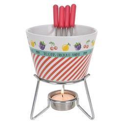 Zestaw do fondue Star, czerwony