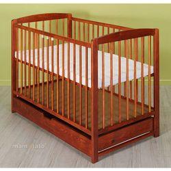 łóżeczko dla niemowląt maja 60x120 cm z szufladą - teak marki Mamo-tato
