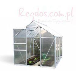 Szklarnia ogrodowa 5,9m2 aluminiowa + poliwęglan - na działkę, towar z kategorii: Szklarnie