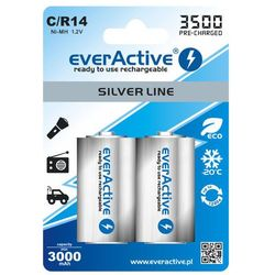 2x akumulatorki  r14/c ni-mh 3500 mah ready to use, marki Everactive