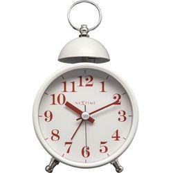 NeXtime - Zegar stojący Single Bell - biały