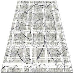 Nowoczesny dywan outdoor wzór Nowoczesny dywan outdoor wzór Liście monstery