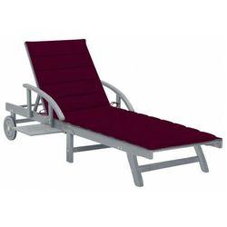 Bordowy leżak ogrodowy - solar marki Elior