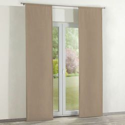 zasłony panelowe 2 szt., beżowy szenil, 60 x 260 cm, chenille marki Dekoria
