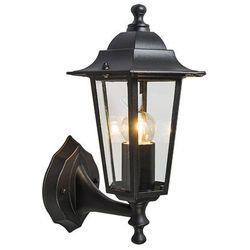 Zewnętrzna lampa ścienna New Haven górna czarna - produkt dostępny w lampyiswiatlo.pl