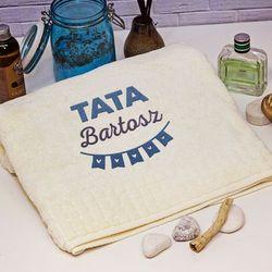 Mygiftdna Tata imię - ręcznik z haftem - ręcznik
