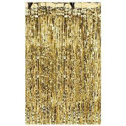 Kurtyna - zasłona na drzwi metaliczna złota - 2,4 m x 91 cm marki Ap