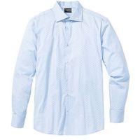 Koszula ze stretchem w delikatny deseń, Slim Fit bonprix jasnoniebieski wzorzysty, w 7 rozmiarach