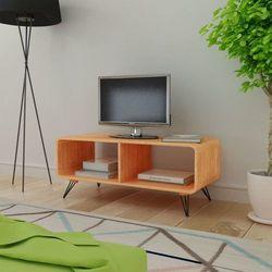 Szafka pod rtv 90x39x38,5 cm z drewna, brązowa marki Vidaxl