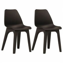Wodoodporne krzesła tarasowe Abila 2szt - brązowe