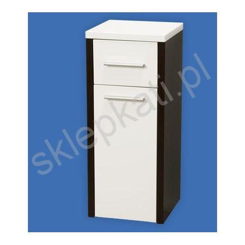 ZOOM MADALENA półsłupek 30x30x73 cm, kolor BIAŁY/WENGE A856242001 - produkt z kategorii- regały łazienko