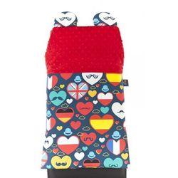 Cuddly Zoo, I love UE, Cudly back, Red, oparcie na krzesło z kategorii Dekoracje i ozdoby dla dzieci