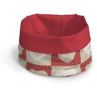 Dekoria Pojemnik okrągły, serca na lniano-czerwonym tle, Ø25x18cm, Freestyle