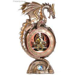 Zegar stojący smok steampunk na kominek marki Veronese