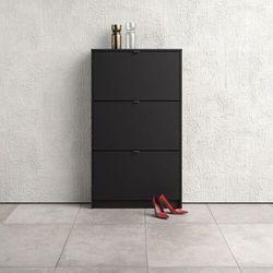 Szafka na buty roma 3d mała czarny mat