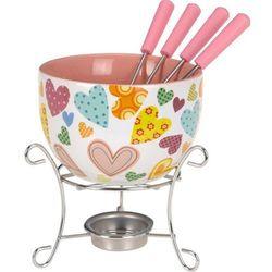 Ceramiczny zestaw do czekoladowego fondue dla 4 osób, B00JMOH9GI