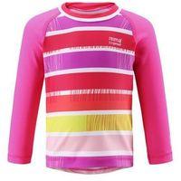 Koszulka Reima kąpielowa Borneo UV długi rękaw różowa (upreme pink) w paski (6420024997331)