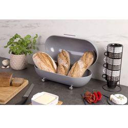 Chlebak wykonany z metalu w kolorze szarym idealny do przechowywania świeżego pieczywa marki 5five simple smart