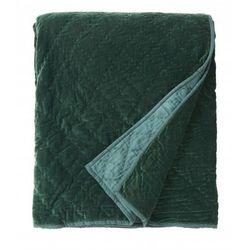 Nordal Aksamitna Narzuta zielona