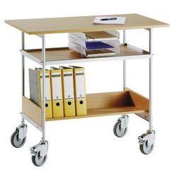 Wózek stołowy, nośność 150 kg, pow. robocza 1000x550 mm. szkielet lakierowany pr marki Wilhelm ebinger