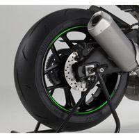 Zielone fluorescencyjne paski PUIG na felgi (wersja premium)