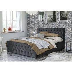 Meblemwm Łóżko tapicerowane do sypialni 140x200 sfg036 popiel welur (9999001205464)