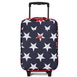 Penny Scallan Design, walizka na kółkach i nóżkach, granatowa w gwiazdy z kategorii walizeczki