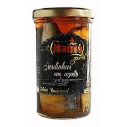 Portugalskie sardynki w oliwie Manná GOURMET słoik 250g (przetwór rybny)