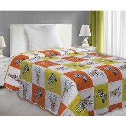 Narzuta dekoracyjna dla dzieci i młodzieży 170x210 Eurofirany ZOO żółty/ pomarańcz, E01-0031-1-1