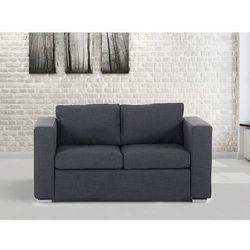 Beliani Sofa ciemnoszara - dwuosobowa - kanapa - sofa tapicerowana - helsinki