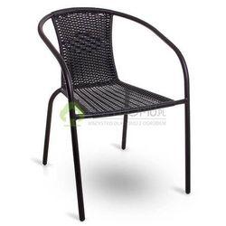 Krzesło ogrodowe SIMPLE technorattan czarny, kup u jednego z partnerów