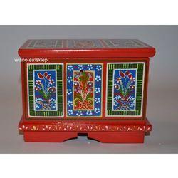Skrzynia wianna zawiślecka ręcznie malowana (15x10x11,5) marki Twórczyni ludowa